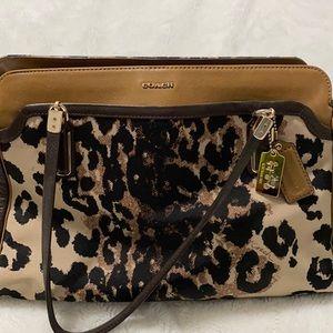 cute Leopard print Coach shoulder bag